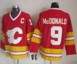 Calgary Flames #9 Lanny McDonald Red CCM Throwback Stitched NHL Jersey