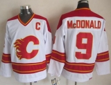 Calgary Flames #9 Lanny McDonald White CCM Throwback Stitched NHL Jersey