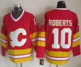 Calgary Flames #10 Gary Roberts Red CCM Throwback Stitched NHL Jersey