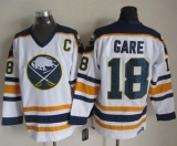 Buffalo Sabres #18 Danny Gare White CCM Throwback Stitched NHL Jersey