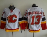 Calgary Flames #13 Johnny Gaudreau White Stitched NHL Jersey