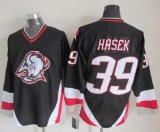 Buffalo Sabres #39 Dominik Hasek Black CCM Throwback Stitched NHL Jersey