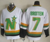 Dallas Stars #7 Neal Broten White CCM Throwback Stitched NHL Jersey