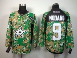 Dallas Stars #9 Mike Modano Camo Veterans Day Practice Stitched NHL Jersey