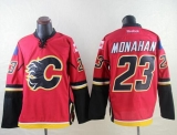 Calgary Flames #23 Sean Monahan Red Stitched NHL Jersey