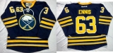 Buffalo Sabres #63 Tyler Ennis Navy Blue Home Stitched NHL Jersey
