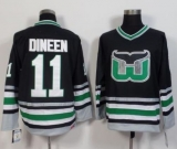 Hartford Whalers #11 Kevin Dineen Black CCM Throwback Stitched NHL Jersey