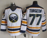 Buffalo Sabres #77 Pierre Turgeon White CCM Throwback Stitched NHL Jersey