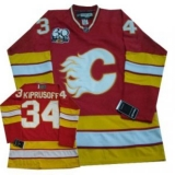 Calgary Flames #34 Miikka Kiprusoff Red with 30TH Patch NHL Jersey