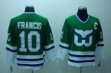 Whalers #10 Ron Francis Stitched CCM Throwback Green NHL Jersey