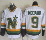 Dallas Stars #9 Mike Modano Stitched White NHL Jersey
