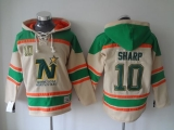 Dallas Stars #10 Patrick Sharp Cream Sawyer Hooded Sweatshirt Stitched NHL Jersey