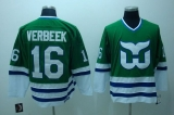 Whalers #16 Patrick Verbeek Stitched CCM Throwback Green NHL Jersey
