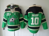 Dallas Stars #10 Patrick Sharp Green Sawyer Hooded Sweatshirt Stitched NHL Jersey