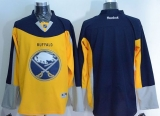 Buffalo Sabres Blank Yellow Navy Blue Alternate Stitched NHL Jersey
