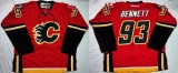 Calgary Flames #93 Sam Bennett Red Home Stitched NHL Jersey