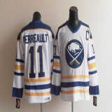 CCM Throwback Buffalo Sabres #11 Perreault White Stitched NHL Jersey