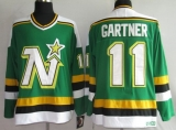 Dallas Stars #11 Mike Gartner Stitched Green CCM Throwback NHL Jersey