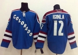 Colorado Avalanche #12 Jarome Iginla Blue Third Stitched NHL Jersey