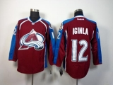 Colorado Avalanche #12 Jarome Iginla Red Home Stitched NHL Jersey