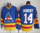 Colorado Avalanche #14 Rene Robert Blue CCM Throwback Stitched NHL Jersey