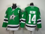 Dallas Stars #14 Jamie Benn Green Home Stitched NHL Jersey
