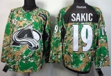 Colorado Avalanche #19 Joe Sakic Camo Veterans Day Practice Stitched NHL Jersey