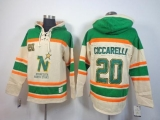 Dallas Stars #20 Dino Ciccarelli Cream Sawyer Hooded Sweatshirt Stitched NHL Jersey