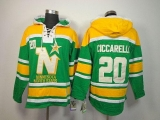 Dallas Stars #20 Dino Ciccarelli Green Sawyer Hooded Sweatshirt Stitched NHL Jersey