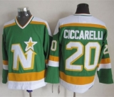 Dallas Stars #20 Dino Ciccarelli Stitched Green CCM Throwback NHL Jersey