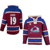 Colorado Avalanche #19 Joe Sakic Red Sawyer Hooded Sweatshirt Stitched NHL Jersey