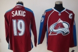 Colorado Avalanche #19 Joe Sakic Stitched Red NHL Jersey