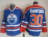 Edmonton Oilers #30 Bill Ranford Light Blue CCM Throwback Stitched NHL Jersey