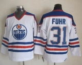 Edmonton Oilers #31 Grant Fuhr White CCM Throwback Stitched NHL Jersey