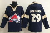 Colorado Avalanche #29 Nathan MacKinnon Blue Pullover NHL Hoodie