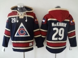 Colorado Avalanche #29 Nathan MacKinnon Navy Blue Sawyer Hooded Sweatshirt Stitched NHL Jersey