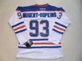 Edmonton Oilers #93 Nugent-Hopkins White Stitched NHL Jersey