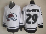 Colorado Avalanche #29 Nathan MacKinnon White Fashion Stitched NHL Jersey