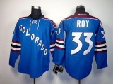 Colorado Avalanche #33 Patrick Roy Blue Third Stitched NHL Jersey