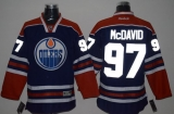 Edmonton Oilers #97 Connor McDavid Light Blue Reflective Version Stitched NHL Jersey