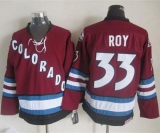 Colorado Avalanche #33 Patrick Roy Red CCM Throwback Stitched NHL Jersey