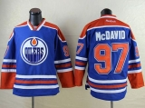 Edmonton Oilers #97 Connor McDavid Light Blue Stitched NHL Jersey
