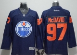 Edmonton Oilers #97 Connor McDavid Navy Blue Denim Stitched NHL Jersey