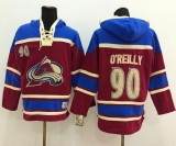 Colorado Avalanche #90 Ryan O\'Reilly Red Sawyer Hooded Sweatshirt Stitched NHL Jersey