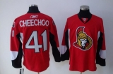 Ottawa Senators #41 Jonathan Cheechoo Stitched Red NHL Jersey