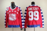 Edmonton Oilers #99 Wayne Gretzky Red All Star CCM Throwback 75TH Stitched NHL Jersey
