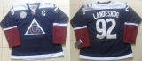 Colorado Avalanche #92 Gabriel Landeskog Navy Blue Alternate Stitched NHL Jersey