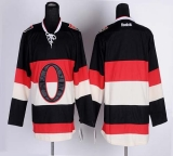Ottawa Senators Blank Black Third Stitched NHL Jersey