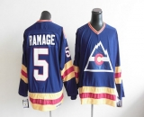 Colorado Avalanche CCM Throwback #5 Rob Ramage Blue Stitched NHL Jersey