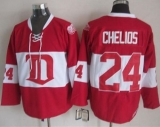 Detroit Red Wings #24 Chris Chelios Red Winter Classic CCM Throwback Stitched NHL Jersey
